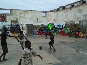 Accra Straßenfußball